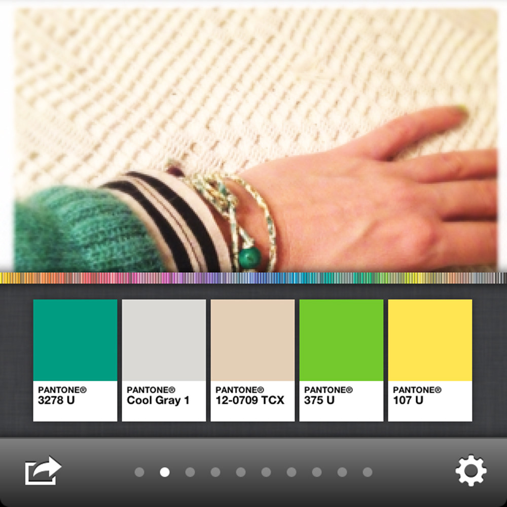 Emerald green colour palette created with mypantone app for iPhone
