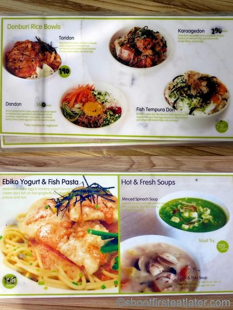 Kozui Green Tea menu-002