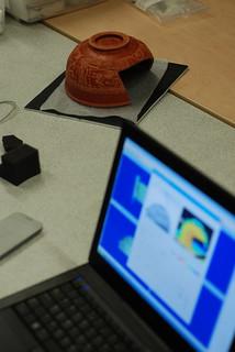 Laser scanning Roman pottery