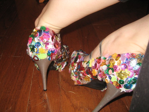 Sequined Shoes