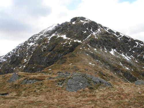 The ridge steepens