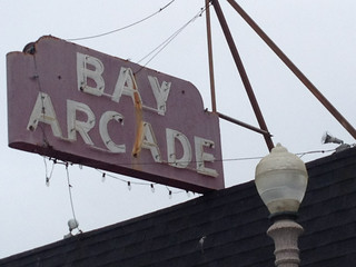 Bay Arcade Neon Sign in Balboa