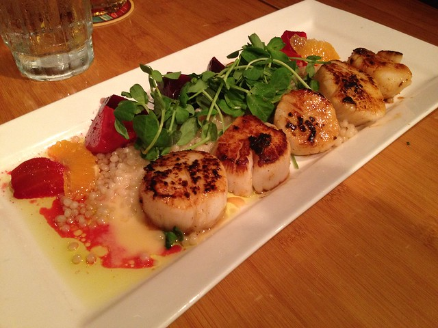Ancho chili pepper seared sea scallops - Roy's