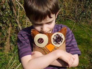 cuddling owlie