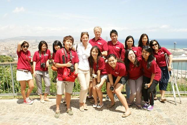 WKWSCI students on an overseas trip