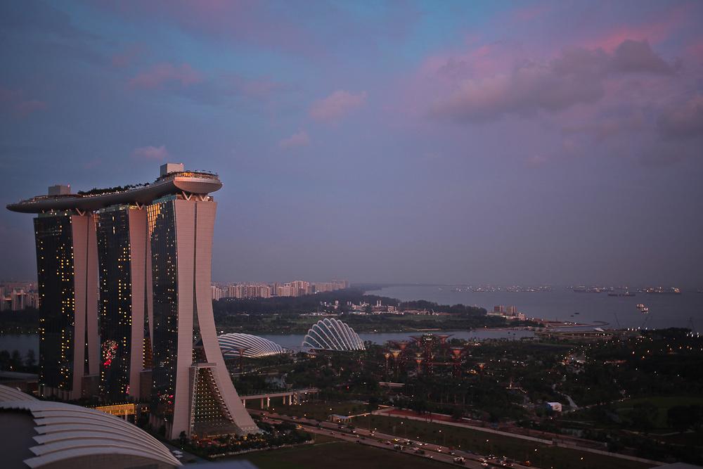 Sunset Marina Bay Sands