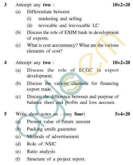 UPTU B.Tech Question Papers - CT805 - Entrepreneurship and Export Management