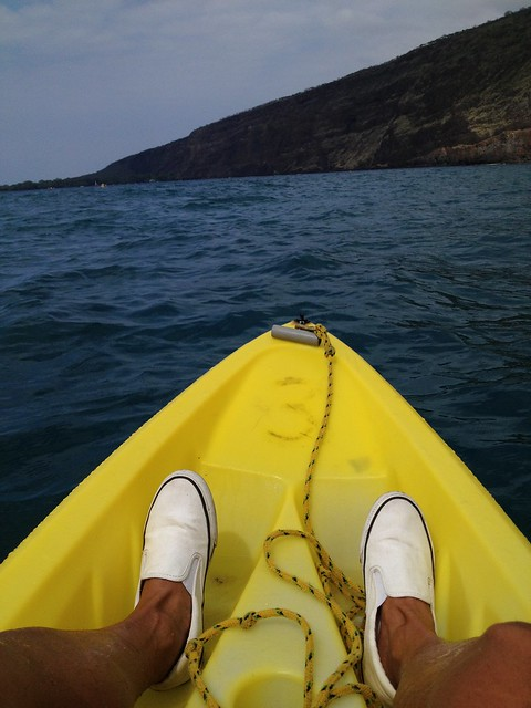 Kayaking in Kealakekua Bay