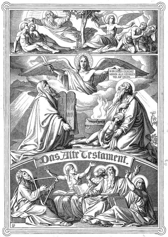 Holzschnitt aus der Vulgata von Dr. Joseph Franz Allioli - 1830
