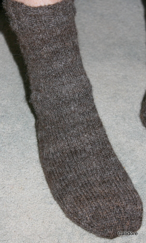 Hand Spun Hand knitted Socks