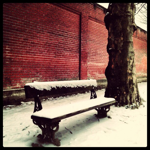 come sit down #bench #winter #snow #white #brussels