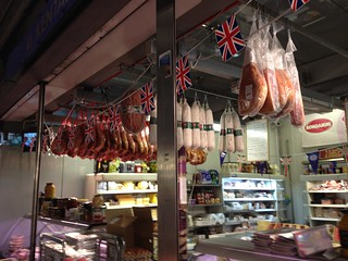 Preserved meats. Smithfield Market, London
