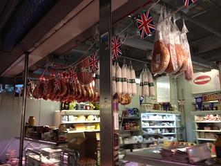 Preserved meats. Smithfield Market, London