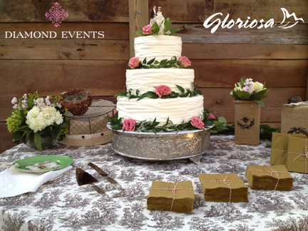 Wedding cake at Sinkland Farms