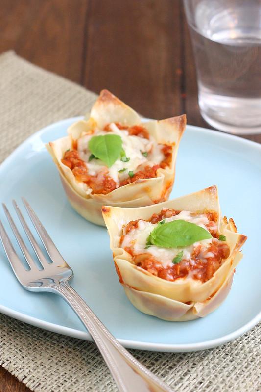 Muffin Tin Mini Lasagna