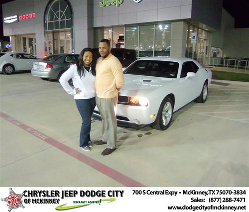 Congratulations to Tremuir Robin on the 2013 Dodge Challenger by Dodge City McKinney Texas