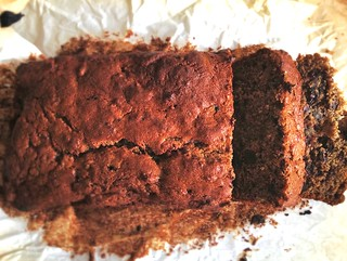 Nutella Black Banana Walnut Loaf Cake