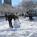 Making a snowman
