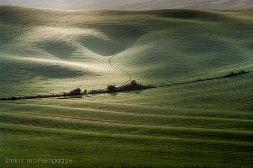Luci in Val D'Orcia by Massimo Pelagagge