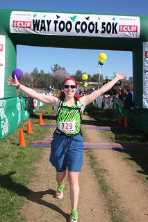 Crossing the Finish Line at Way Too Cool