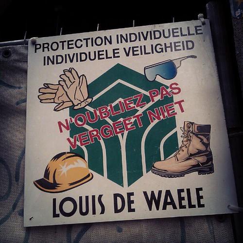#safetyfirst #sign #construction #brussels