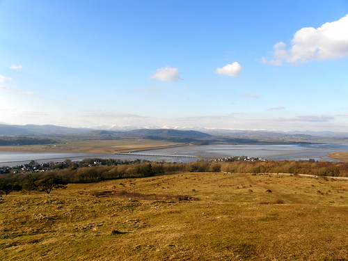 Kent Estuary and Lakeland Fells from Arnside Knott