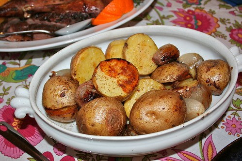 Potatoes roasted in goose fat