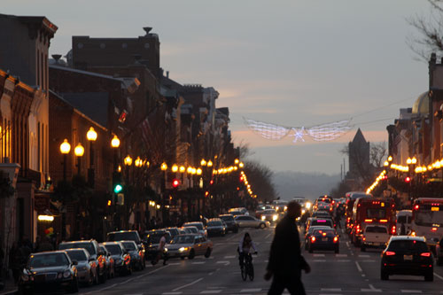 Georgetown Street in the Evening. January, 2013