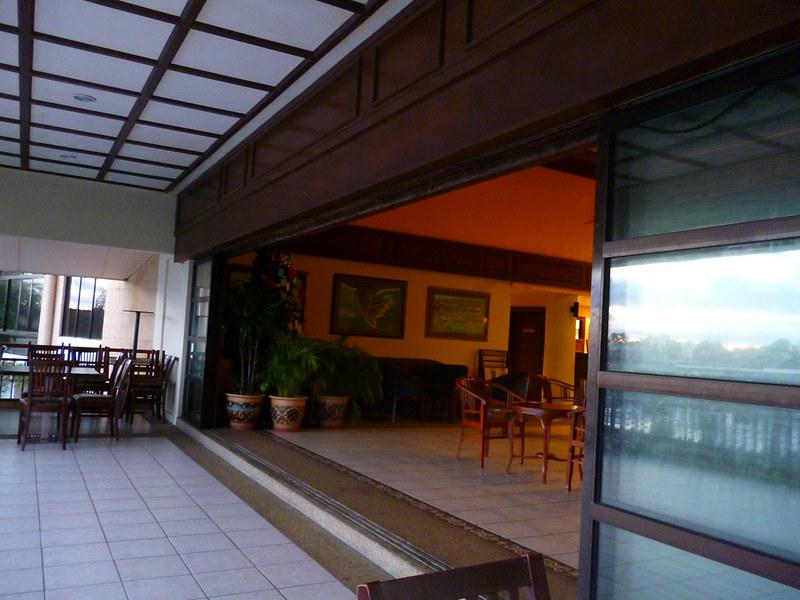 Lobby and veranda of Kudat Golf & Marina Resort