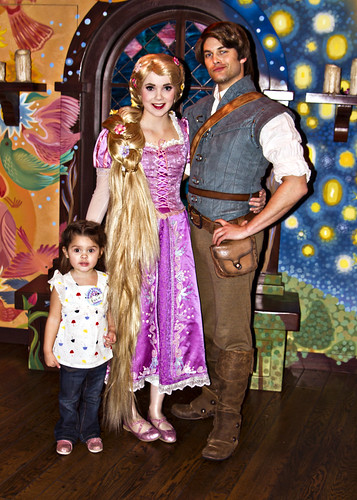 meeting Rapunzel and Flynn Rider