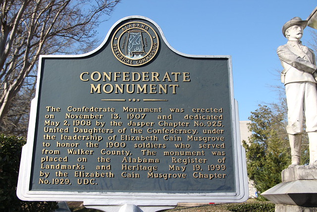 Confederate monument marker
