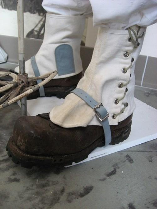 snowshoe gaiters on display at Thunderbolt Ski Museum