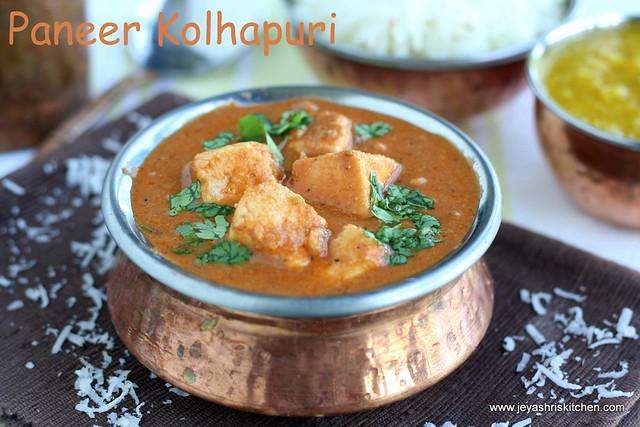 Paneer Kolhapuri 2