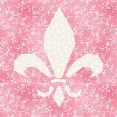 pink and white fleur