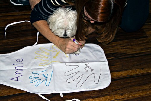 tracing Rigby's paw