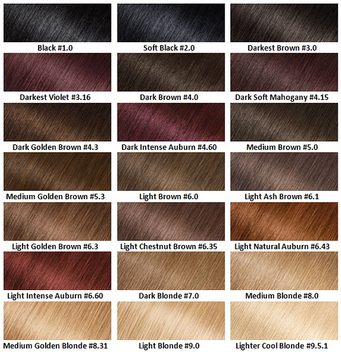 Olia Hair Color Chart
