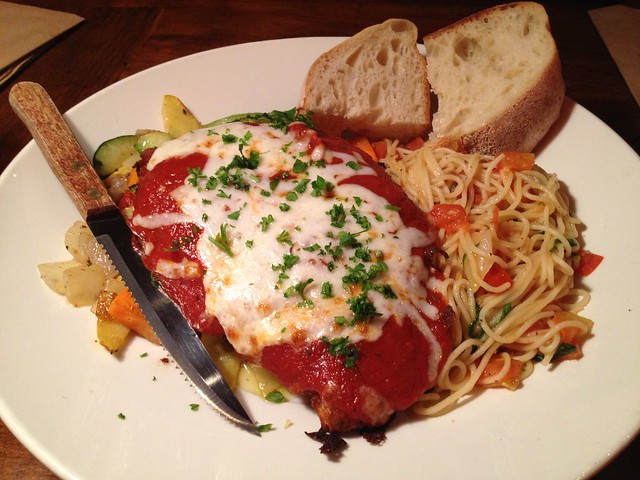 Chicken parmigiana - Firewood Cafe