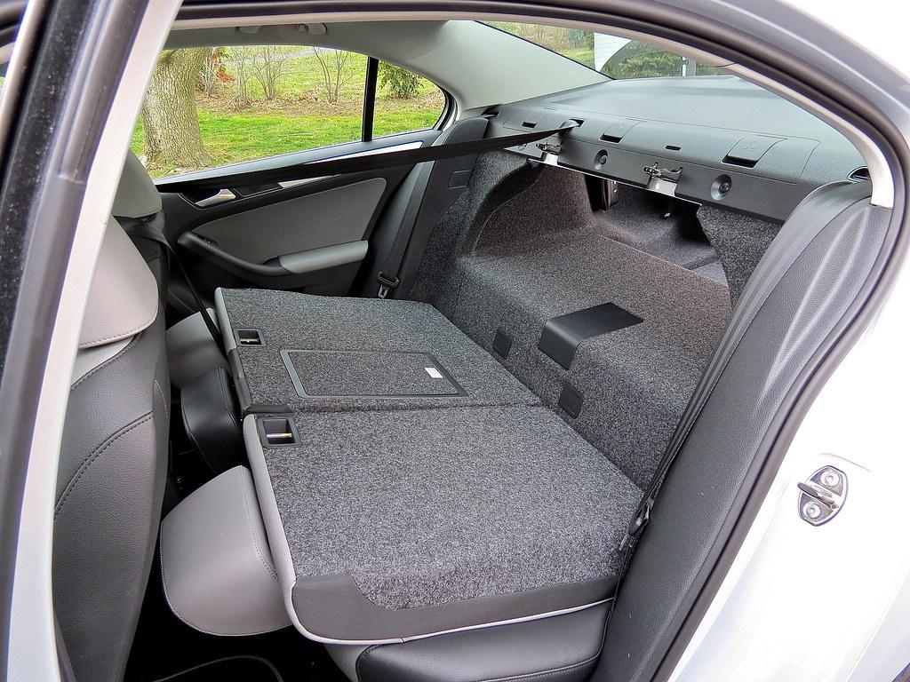 VW Hybrid folding rear seat