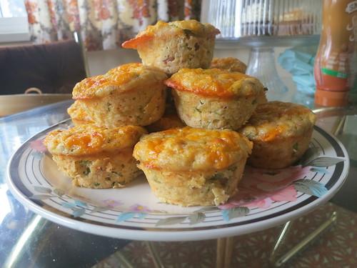 Corn custard muffins
