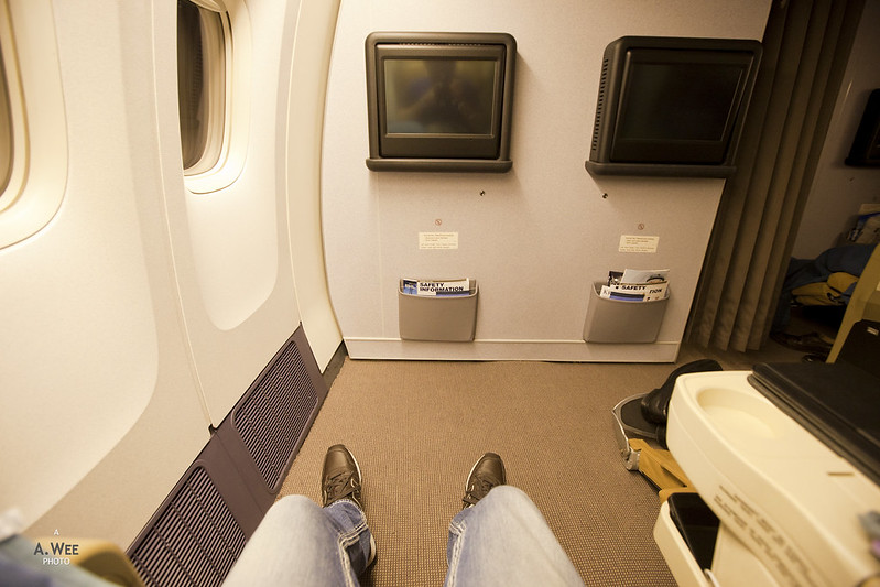 Legroom on the Bulkhead Seat