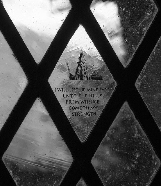 Inscription and etching in St Olaf Church, Wasdale Head