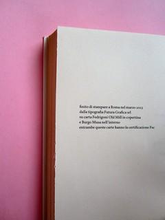 Denis Lachaud, Imparo il tedesco. 66THAND2ND 2013. Progetto grafico: Silvana Amatao, Marta B Dau. Alla cop.: disegno di Julia Binfield. Pagina dello stampatore (part.), 1