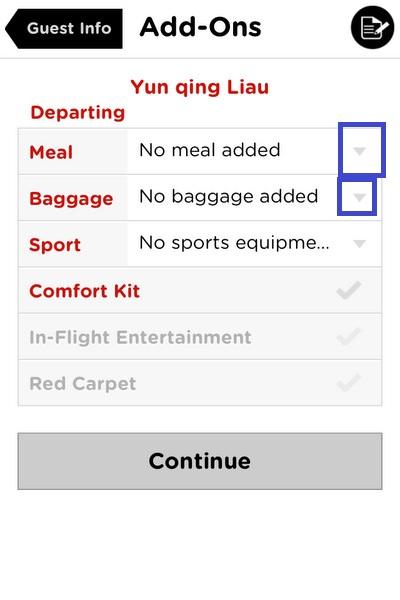AirAsia app booking