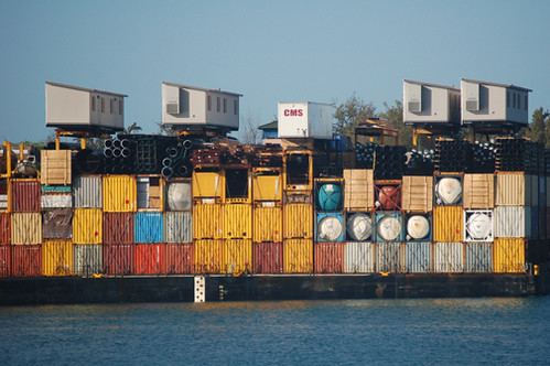 cargo on Pacific Trader barge