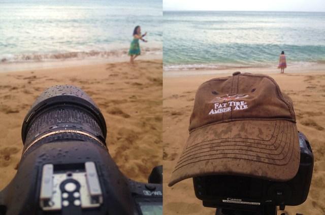 Camera weather sealing hat trick