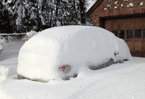 There's a Subaru under there, somewhere