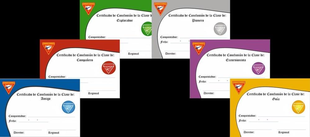 Certificados de Clases Regulares y Avanzadas (2/3)