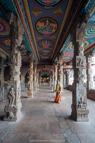 Corridors of the Madurai Meenakshi Temple