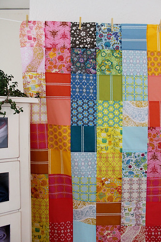 voile patchwork quilt top