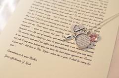 John Keats Love Letter Charm Necklace by Ciarrai Studios